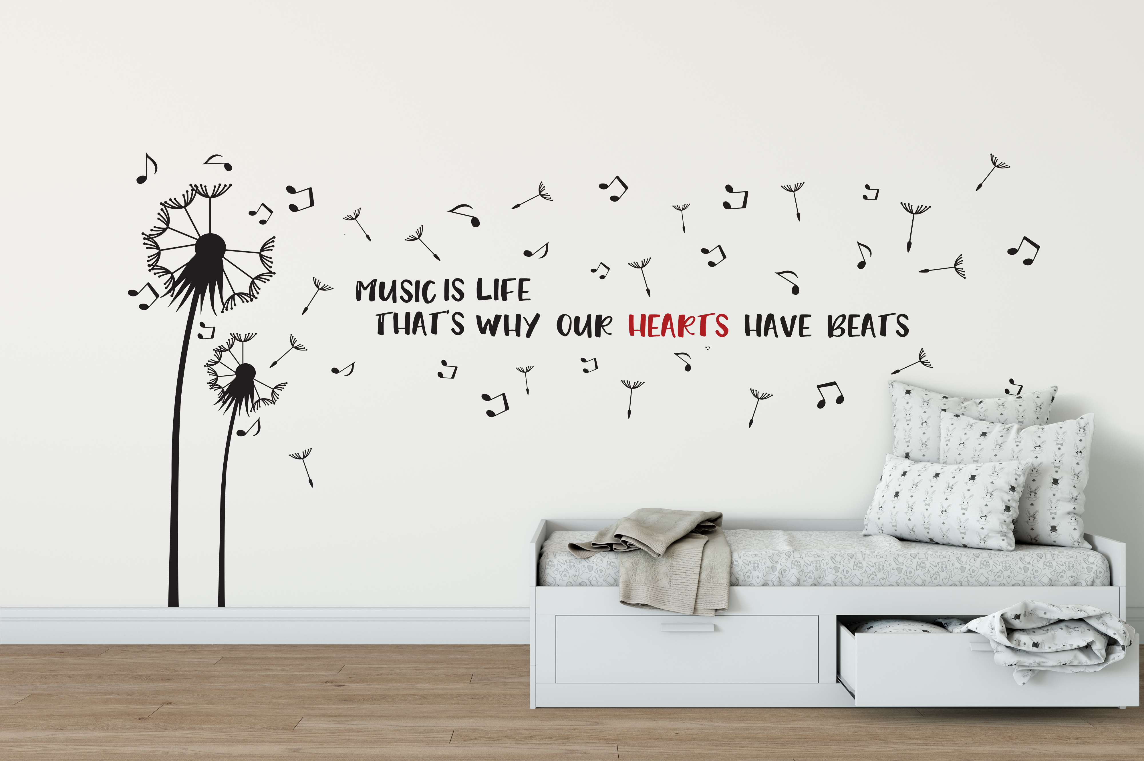 Dandelion Wall Art Stickers Music Notes Wall Stickers Peenmedia Com