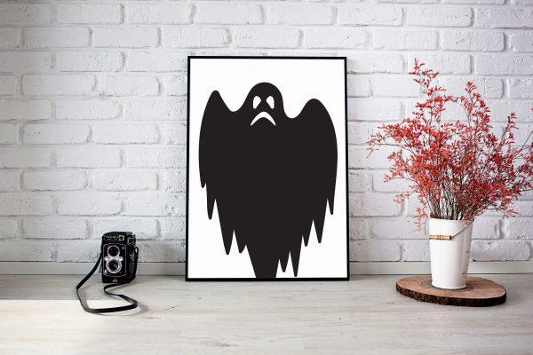 Ghost Halloween Print